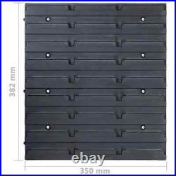 VidaXL 96 Piece Storage Bin Kit with Wall Panels Blue Tool Case Tool Organiser
