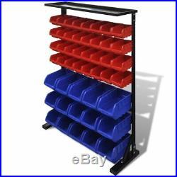 VidaXL Garage Tool Organiser Blue and Red Garage Storage Cabinet Case Box