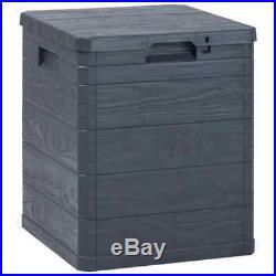 VidaXL Garden Storage Box 90L Anthracite Outdoor Utility Chest Organiser Unit