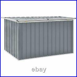 VidaXL Garden Storage Box Grey Outdoor Furniture Patio Cushion Deck Chest
