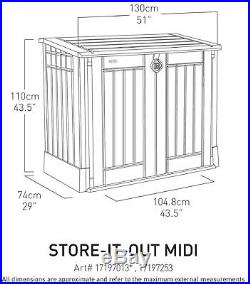 Wheelie Bin Storage Box Keter Outdoor Garden Patio Furniture Container LARGE NEW