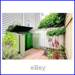 Wheelie Bin Storage Box Outdoor Plastic Garden Storage Shed Utility Cabinet Cupb