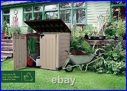 Wheelie Bin Storage Box Outdoor Plastic Garden Storage Shed Utility Cabinet New