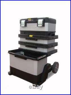 Workshop Tool Box Trolley Stanley Fatmax Metal And Plastic Rolling Storage  New