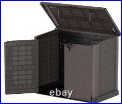 XL Store It Out Max Storage Garden Plastic Shed Grey Box Lockable Waterproof