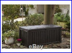 XXL 570L Garden Storage Box Chest Durable Plastic Indoor Outdoor Waterproof