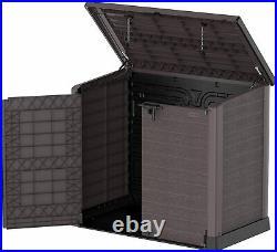 XXL Large Outdoor Garden Lockable Storage Shed Waterproof Tool & Bike Bin