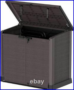 XXL Large Storage Shed Garden Outdoor Bin Tool Store Lockable Waterproof Unit