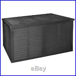 XXL Storage Rattan Cushion Box Garden Box Outdoor Plastic Tool Chest Double Lid